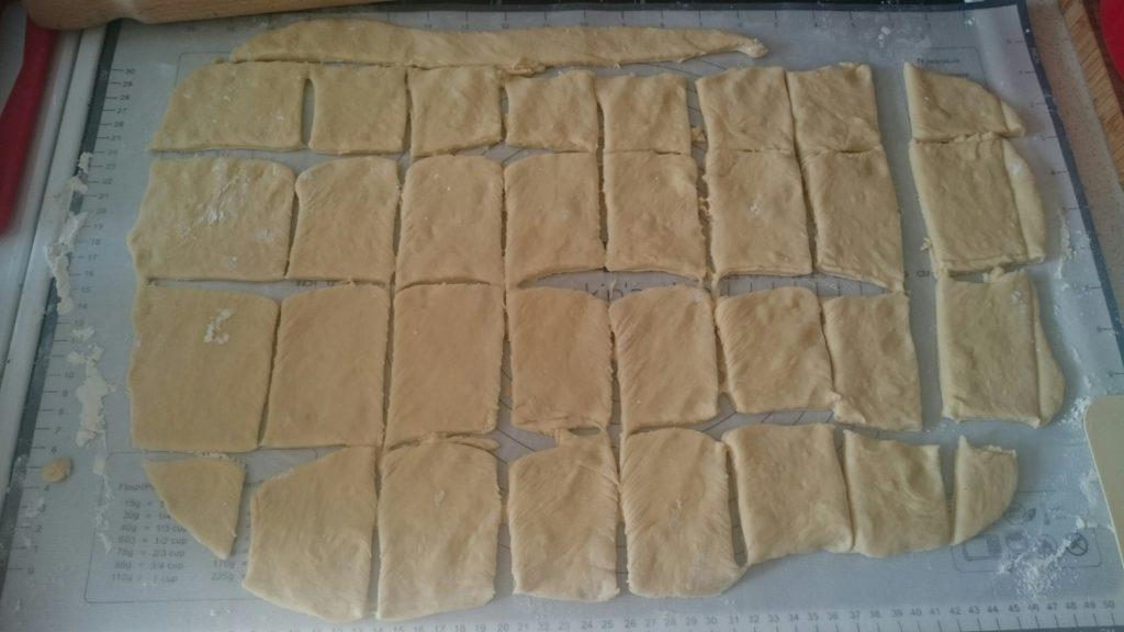 Zupfbrot-Ausschnitte
